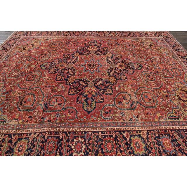 "Apadana - Vintage Persian Heriz Rug, 9'9"" x 13' For Sale - Image 4 of 7"