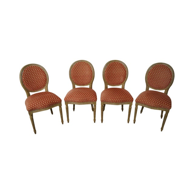 Pearson Venetia French Louis XVI Style Dining Chairs - Set of 4 - Image 1 of 10