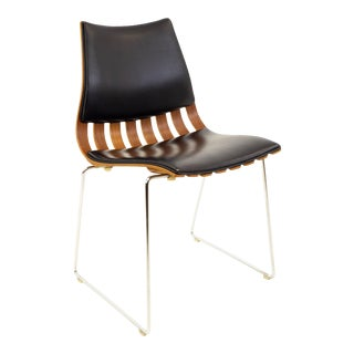 Vintage Mid Century Hans Brattrud for Hove Mobler Teak Padded Scandia Chair For Sale