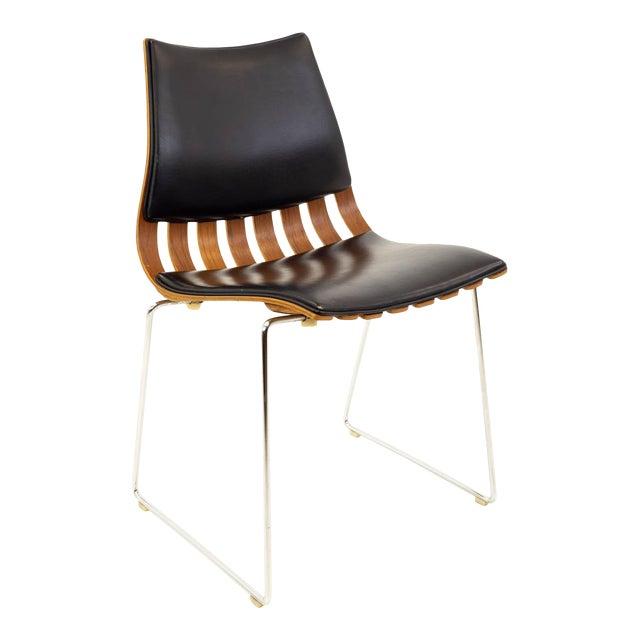 Vintage Mid Century Hans Brattrud for Hove Mobler Teak Padded Scandia Chair For Sale