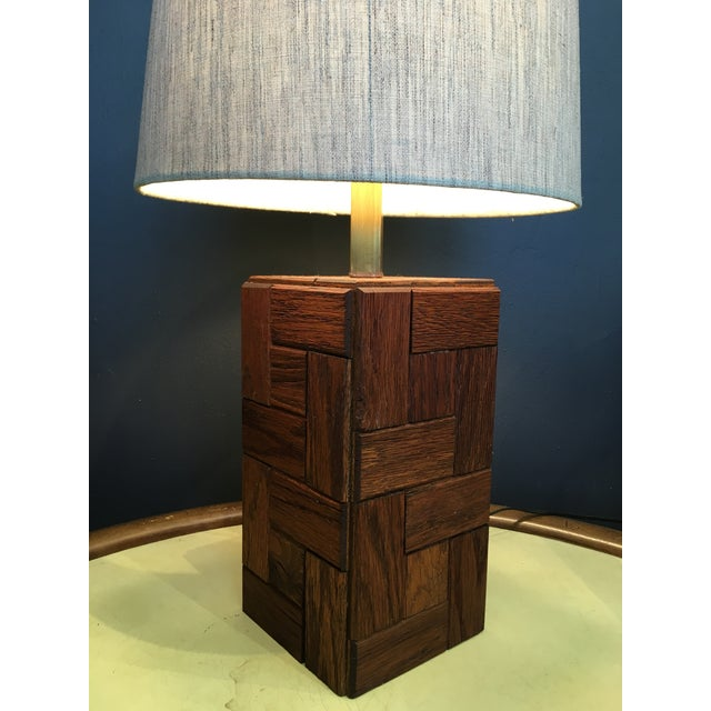 Mid-Century Hand Crafted Wood Table Lamp For Sale In San Francisco - Image 6 of 10