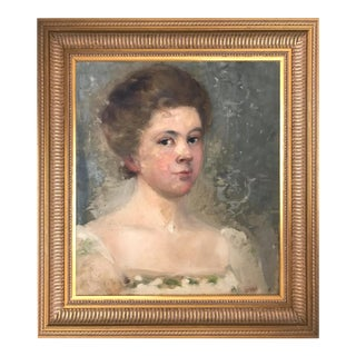 Antique Portrait of a Woman by Isabelle Nowell For Sale