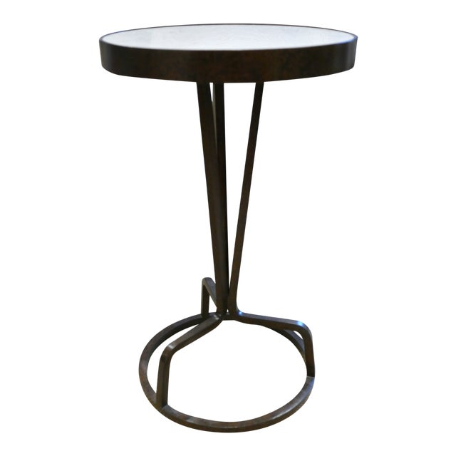 Bunny Williams Wrought Iron and Marble Drink Table For Sale