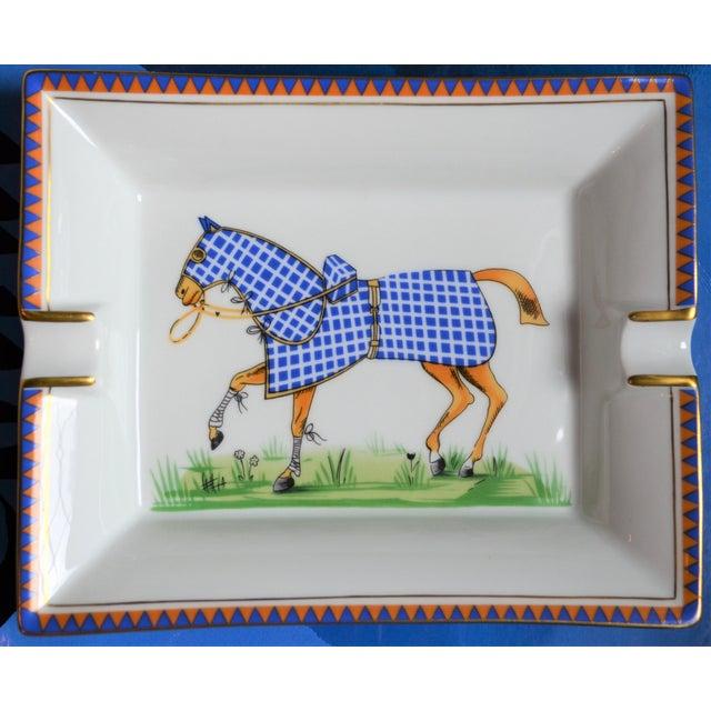 1970s Hermes Porcelain Equestrian Ashtray For Sale In Houston - Image 6 of 10