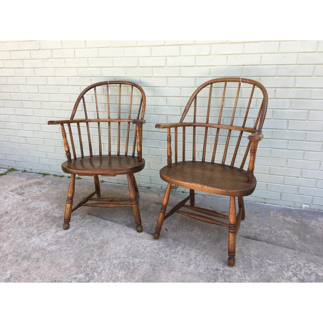 Windsor Bow Back Chairs - A Pair - Image 2 of 7