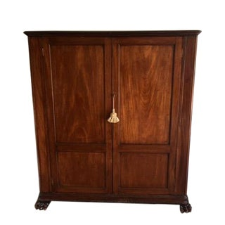 19th Century English Victorian Walnut Wardrobe in a Louis Philipe Figured Style For Sale