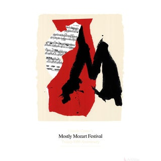 Robert Motherwell, Mostly Mozart Festival, 1991 Serigraph