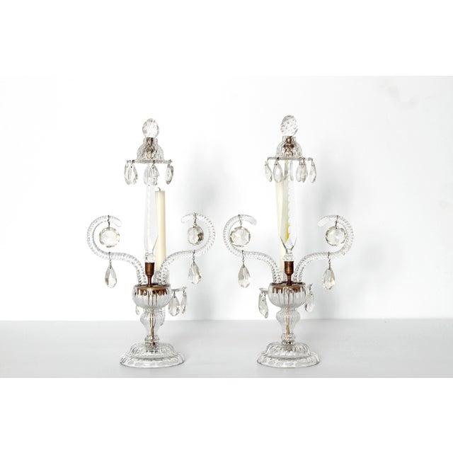 George II Cut Glass Girandoles / Lustres - Image 4 of 11