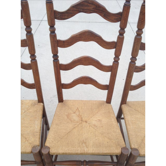 Vintage Tall Ladder Dining Chairs - Set of 4 - Image 7 of 10