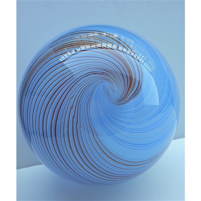 Vintage Hand Blown Globe Vase - Image 9 of 9