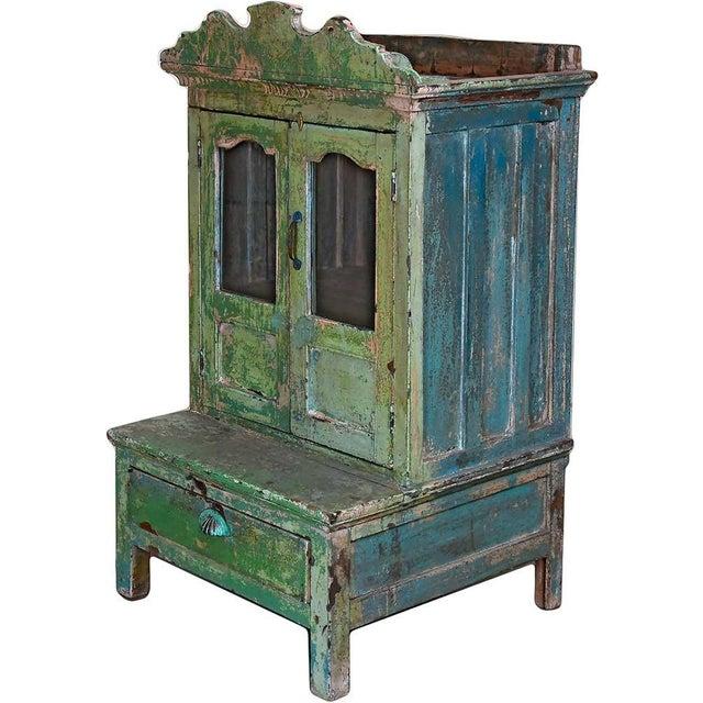 Pink & Green Bygone Boudoir Cabinet For Sale