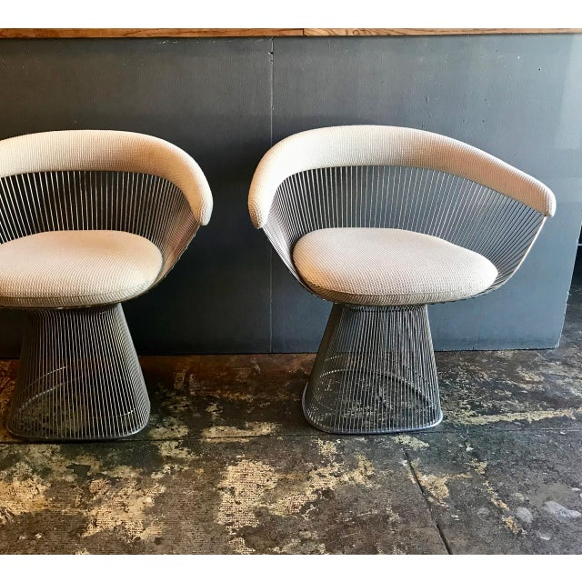 This is a great pair of Warren Platner designed chairs. The chairs were designed in 1966; I believe that this pair dates...