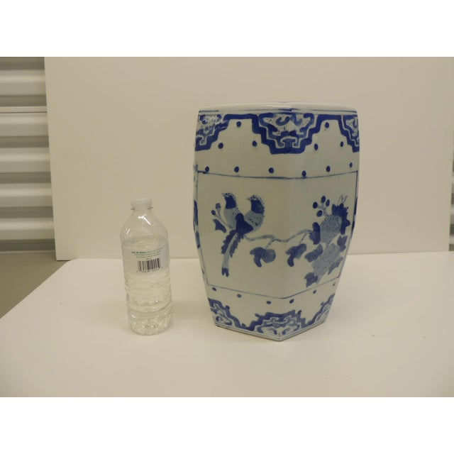 Vintage Blue and White Floral Mini-Garden Stool - Image 6 of 7