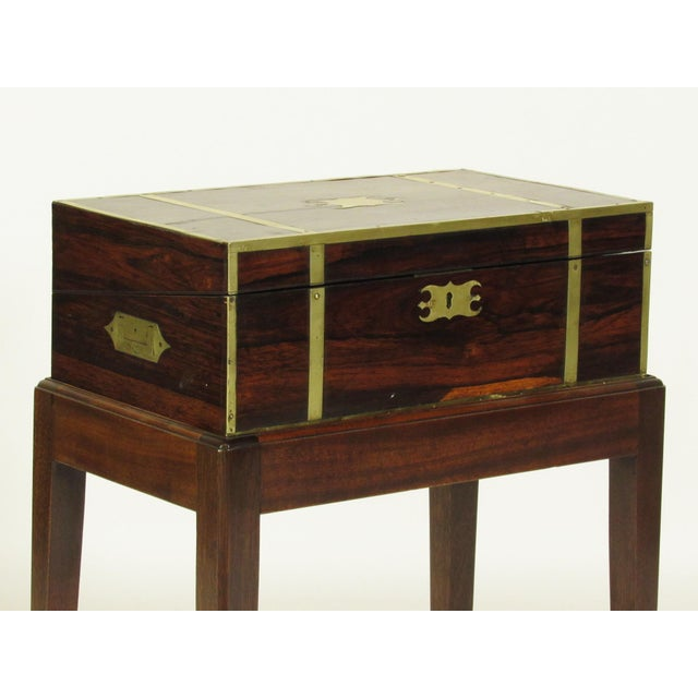 19th Century Regency Lap Desk on Stand For Sale - Image 4 of 11