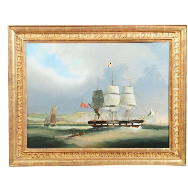English Sail Boat - 19th Century Oil Painting - Image 2 of 12