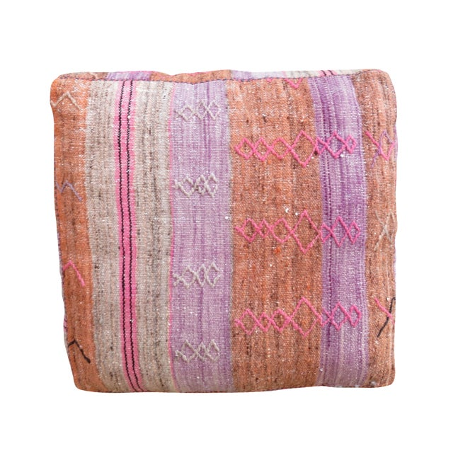 Vintage Moroccan Floor Pillow - Image 1 of 4
