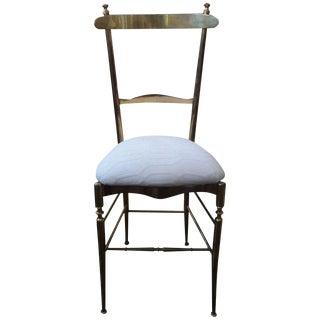 1960 Vintage DI Sanguineti Italian Brass Chiavari Campanino Chair