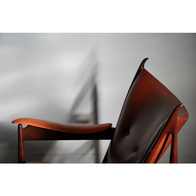 Mid-Century Modern 1990s Finn Juhl Chieftain Chair in Mahogany by Interior Crafts For Sale - Image 3 of 8