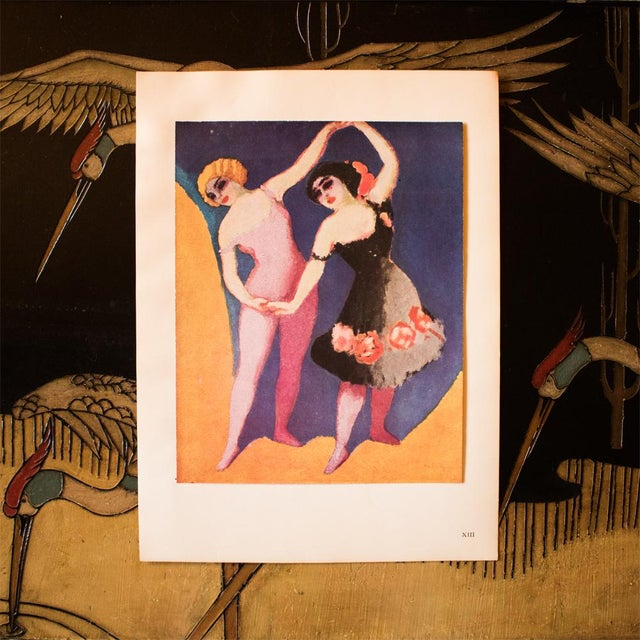 """French 1948 Kees Van Dongen Original Period Lithograph """"The Dancers"""" For Sale - Image 3 of 8"""