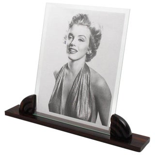 Large 1930s Art Deco Picture Photo Frame Macassar Carved Wood For Sale