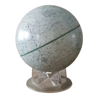 Mid Century Replogle Lunar Moon Globe For Sale