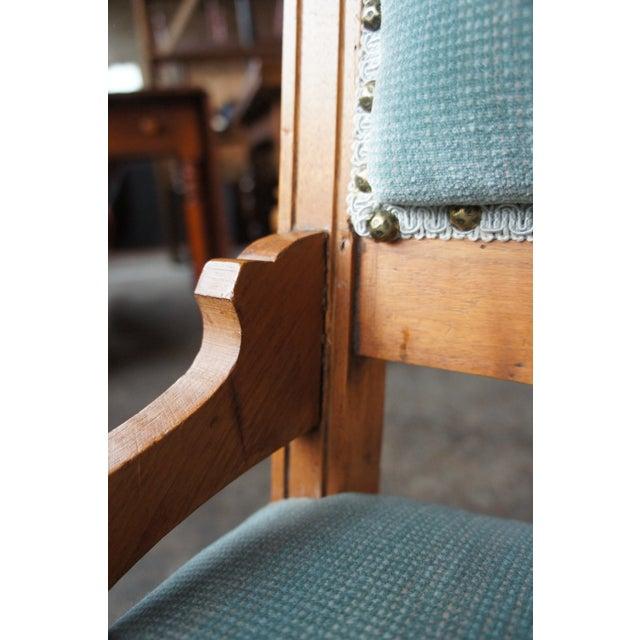 Antique Victorian Renaissance Revival Walnut Burl Parlor Accent Chair For Sale - Image 4 of 13