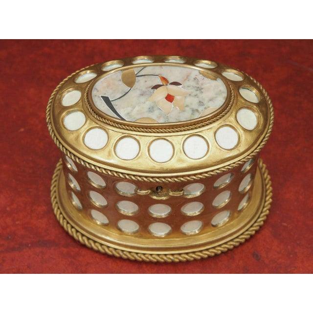 "Charles X Gilt and Mosaic Jewlery Box, Signed ""Tahan, Paris"" - Image 2 of 8"