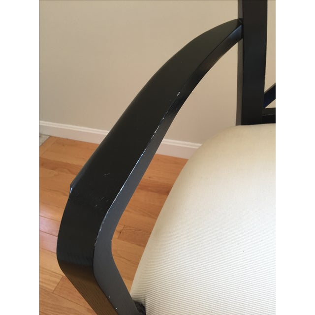 Ralph Lauren Black & White Accent Chair - Image 7 of 8