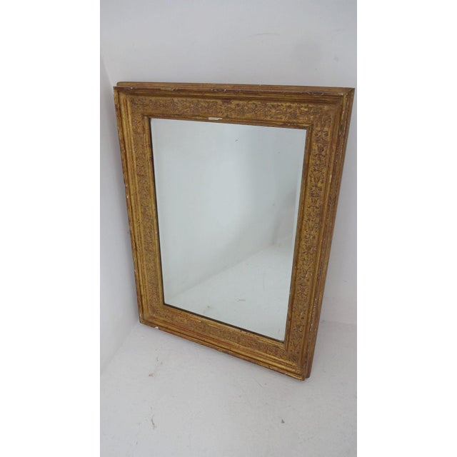 French Gilded French Wall Mirror For Sale - Image 3 of 6