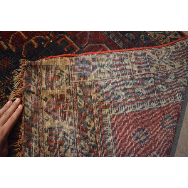 Antique Bohemian Style Handmade Rug - 3′11″ × 7′5″ For Sale - Image 4 of 5