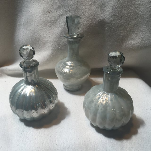 Mercury Glass Decanters - Set of 3 - Image 4 of 7