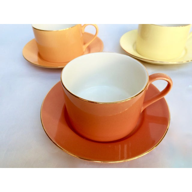 Sherbet-Hued Teacups & Saucers - Set of 6 - Image 8 of 10