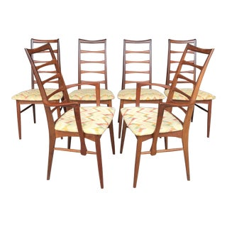 "Set of 6 Koefoeds Hornslet ""Lis"" Teak Dining Chairs For Sale"