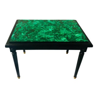 Italian Table With Malachite Top For Sale