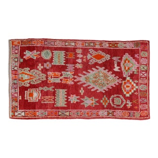 Vintage Moroccan Rug - 8'4'' X 4'10'' For Sale