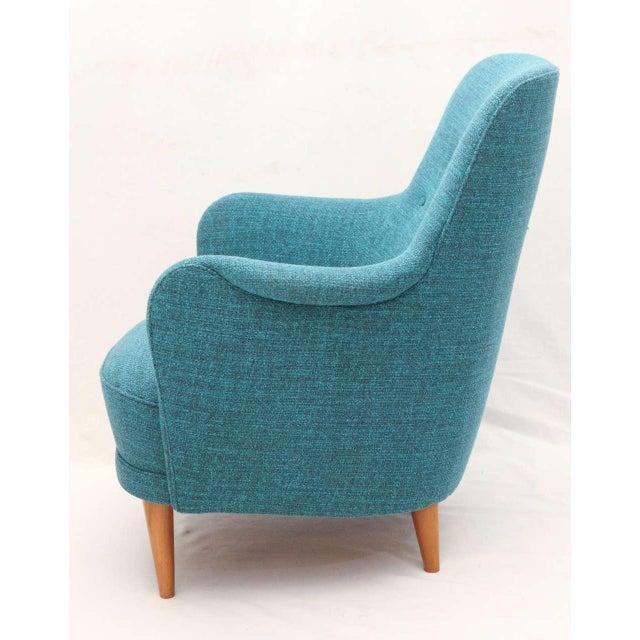 "Wood Carl Malmsten ""Samsas"" Lounge Chair For Sale - Image 7 of 9"