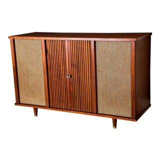 1960s Mid-Century Modern Curtis-Mathes Stereo Console Bar TV Stand
