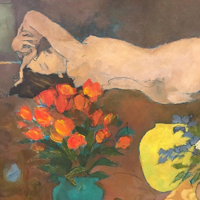 "Modern ""Sleeping Beauty"" Painting by G. Juarez For Sale - Image 3 of 10"