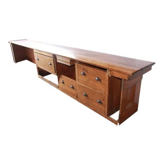 Early 20th C. Antique Store Wood Counter For Sale