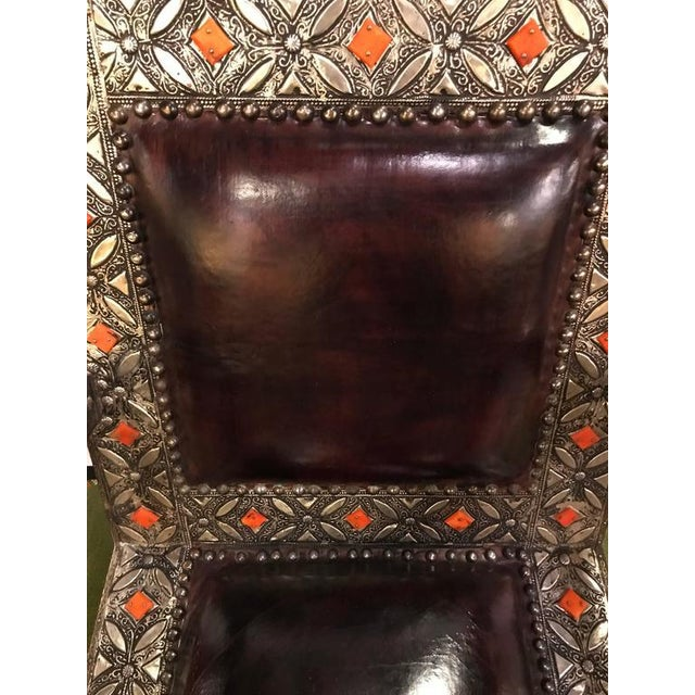 Orange Royal Style Camel Bone Armchair For Sale - Image 8 of 10