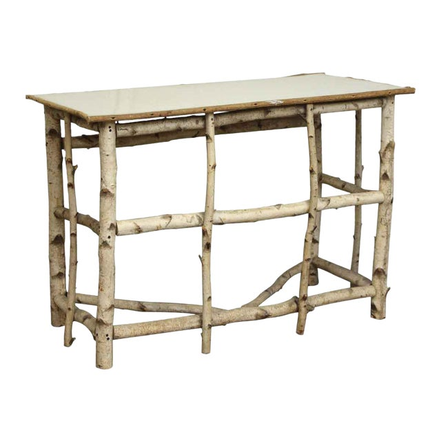 20th Century Rustic Wooden Console Table Chairish