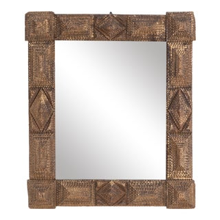 1920s Ornate Wood Frame Mirror For Sale