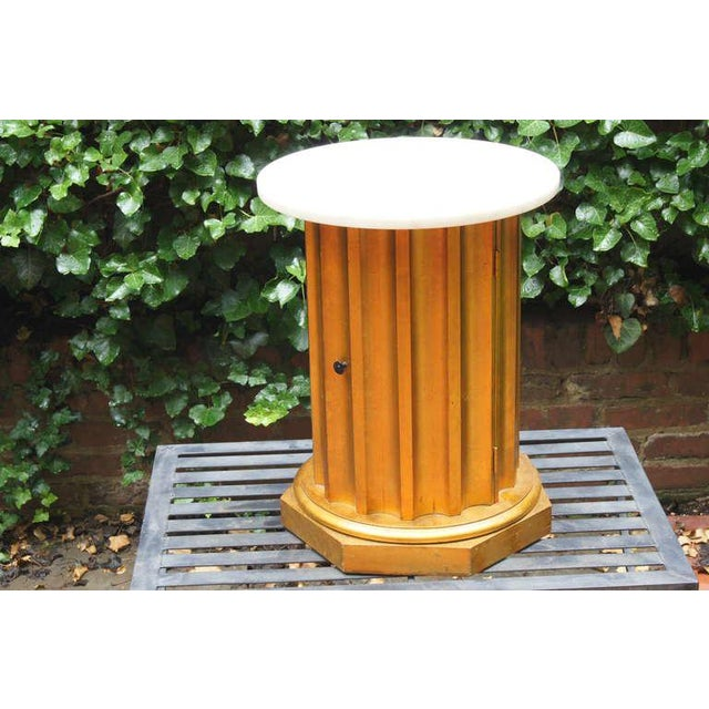 Marble Column Side Table For Sale - Image 4 of 11