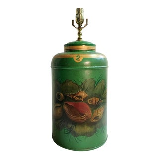 English Export Tea Caddy Lamp For Sale
