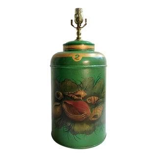 English Export Tea Caddy Lamp