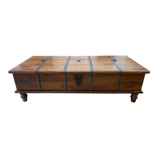 Mid 20th Century Moroccan Trunk Coffee Table For Sale
