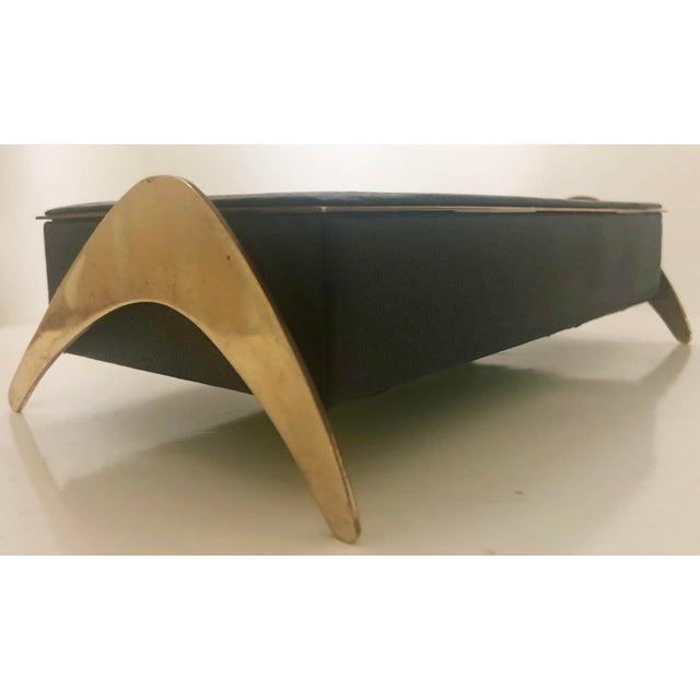 Leather/Brass Atomic Jewelry Box - Image 8 of 11