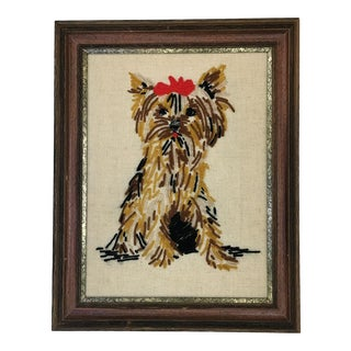 1960s Vintage Yorkie Embroidery For Sale