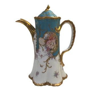 19th Century Rococo Dresden Porcelain Coffee Pot For Sale