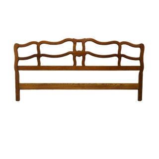 Davis Cabinet Provence Cherry Country French King Size Headboard For Sale